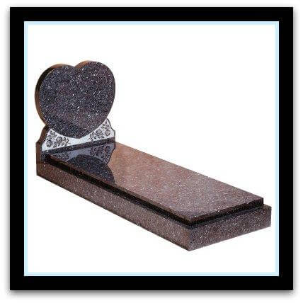 Blue pearl granite heart and cover slab