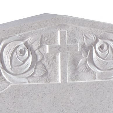 Churchyard & Marble Memorial - Cat No: EC184 Cross & Roses