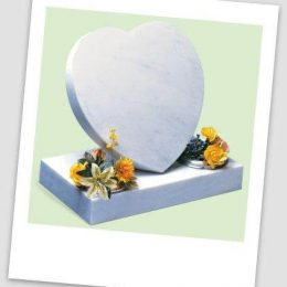 Cremation Memorials - MARBLE CREMATION HEART