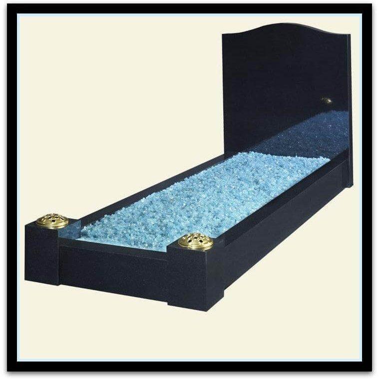 Black granite mousetrap & kerbs